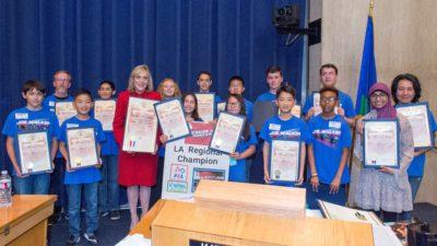 "Joe Walker Middle School ""Science Jets"" Win LA Regional Lego Robotics Championship"